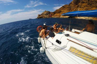 Sailing in the natural park of Serra Gelada.  An unforgettable experience.